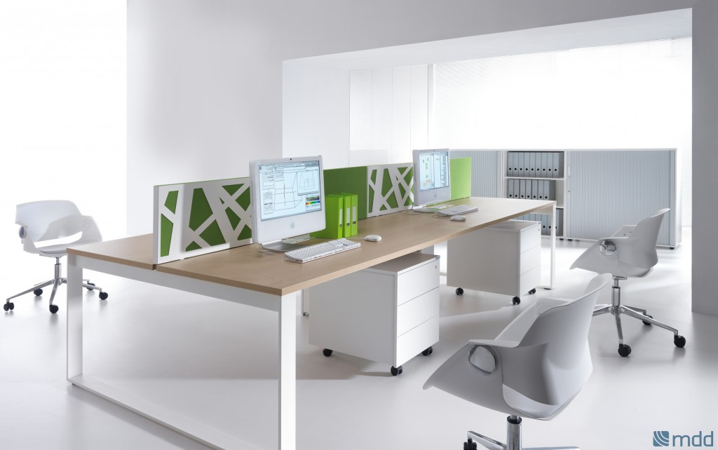 Zig zag workstation furniture for open space